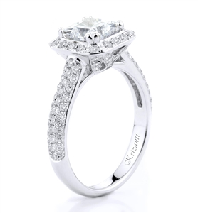 18KTW ENGAGEMNT RING 0.82CT