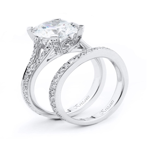 18KTW ENGAGEMENT SET 0.82CT
