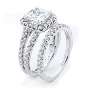 18KTW ENGAGEMENT SET 1.15CT