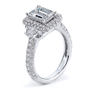 18KW ENGAGEMENT RING 1.48CT