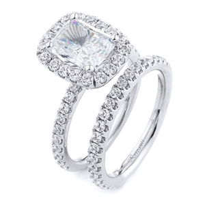 18KT.W ENGAGEMENT SET, DIAMOND 1.35CT