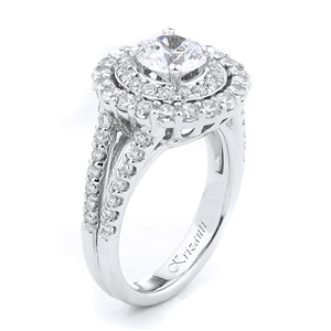 18KW ENGAGEMENT RING 1.10CT