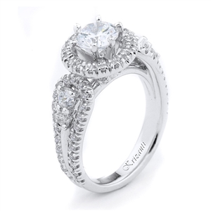 18KTW ENGAGEMENT RING 0.967CT