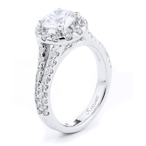 18KW ENGAGEMENT RING 1.05CT