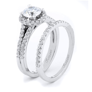 18KTW ENGAGEMENT SET 0.66CT