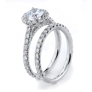 18KTW ENGAGEMENT SET 1.35CT