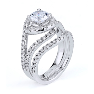 18KTW ENGAGEMENT SET 0.75CT