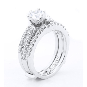 18KTW RING GUARD DIAMOND 0.67CT