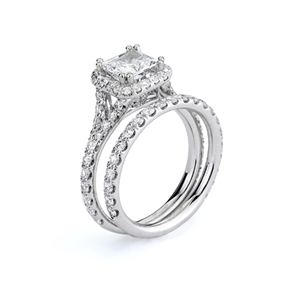18KTW ENGAGEMENT SET 1.00CT