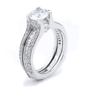 18KTW RING GUARD DIAMOND 0.90CT