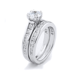 18KTW ENGAGEMENT SET 0.95CT