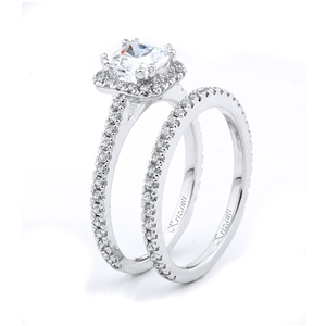 18KTW ENGAGEMENT SET 0.70CT
