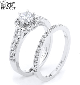18KTW ENGAGEMENT SET DIAMOND 0.55CT