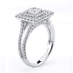 18KTW ENGANGEMENT RING 0.82CT