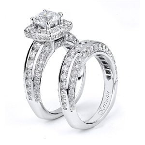 18KTW ENGAGEMENT SET, DIAMOND 2.78CT