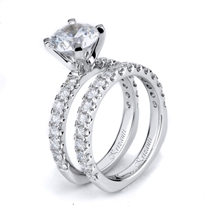 18KTW ENGAGEMENT SET, DIAMOND 1.23CT
