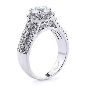 18KT.W ENGAGEMENT RING DIAM-0.78CT