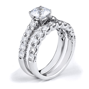 18KTW ENGAGEMENT SET, DIAMOND 1.70CT