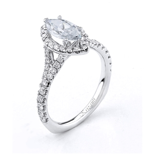 8KTW ENGAGEMENT RING 0.62CT