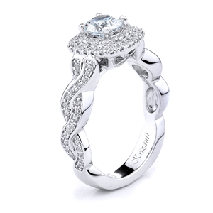 18KT WHITE ENGAGEMENT RING DIAMOND 0.50CT