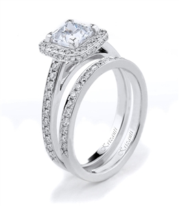 18KTW ENGAGEMENT SET, DIAMOND 0.68CT