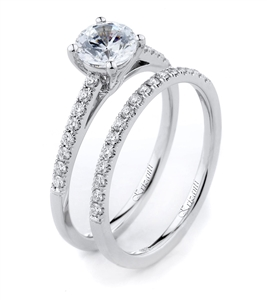 18KTW ENGAGEMENT SET, DIAMOND 0.28CT