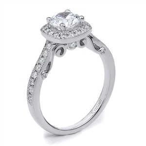 18KTW ENGAGEMENT RING, DIAMOND 0.33CT