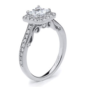 18KTW ENGAGEMENT RING, DIAMOND 0.37CT