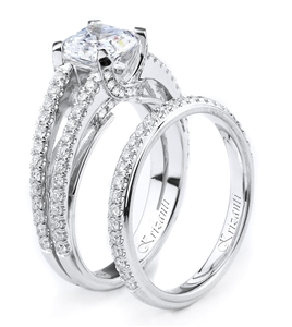 18KTW ENGAGEMENT SET, DIAMOND 0.83CT