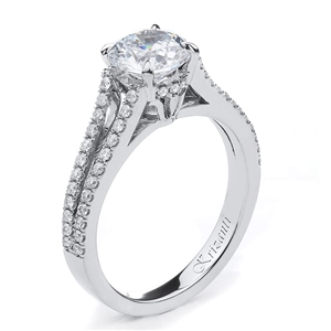 18KTW ENEGAGEMENT RING 0.37CT