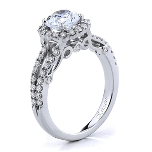 18KTW ENGAGEMENT RING, DIAMOND 0.73CT