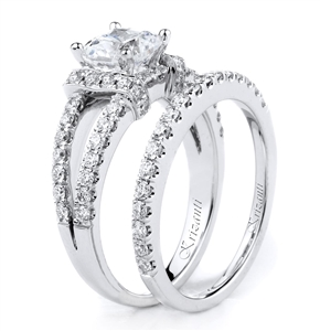 18KTW ENGAGEMENT SET, DIAMOND 0.95CT