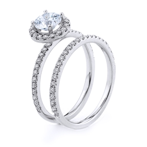 18KT.W ENGAGEMENT SET DIAM-0.49CT