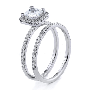 18KTW ENGAGEMENT SET, DIAMOND 0.48CT