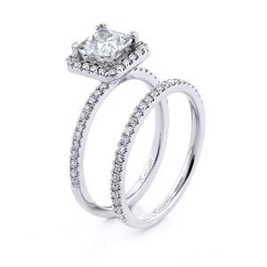18KT.W ENGAGAGEMENT SET DIAM-0.47CT