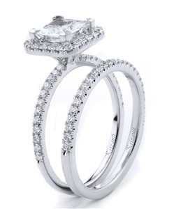 18KTW ENGAGEMENT SET, DIAMOND 0.60CT
