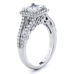 18KTW ENGAGEMENT RING, DIAMOND 0.57CT