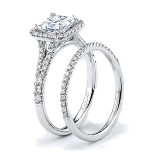 18KTW ENGAGEMENT SET, DIAMOND 0.56CT