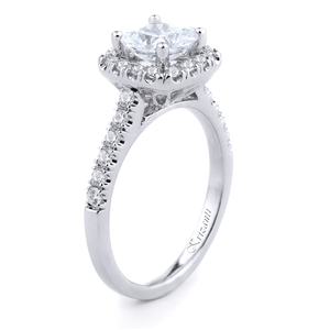 18KTW ENGAGEMENT RING, DIAMOND 0.45CT