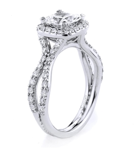 18KTW ENGAGEMENT RING 0.84CT