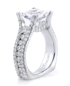 18KTW ENGAGEMENT RING, DIAMOND 1.83CT