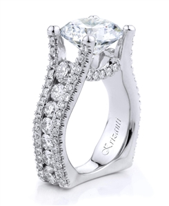 18KTW ENGAGEMENT RING, DIAMNOND 2.52CT
