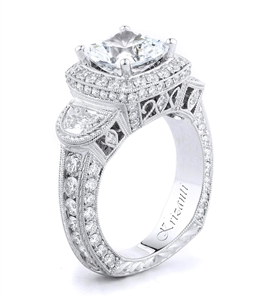 18KTW ENGAGEMENT RING, DIAMOND 2.39CT