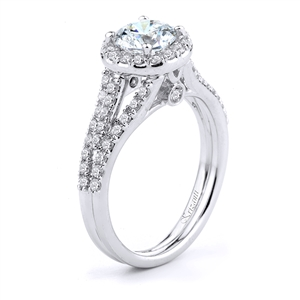 18KTW ENGAGEMENT RING, DIAMOND 0.68CT