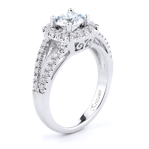 18KT WHITE ENGAGEMENT RING DIAMOND 0.45CT