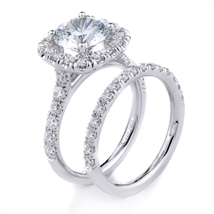 18KTW ENGAGEMENT 0.66CT, BAND 0.48CT