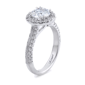 18KT WHITE ENGAGEMENT RING 0.65CT