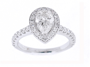 18KTW ENGAGEMENT RING, DIAMOND 0.50CT