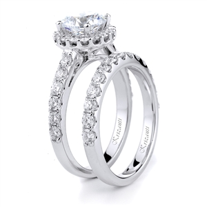 18KTW ENGAGEMENT 0.71CT, BAND 0.60CT