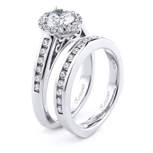 18KT.W ENGAGEMENT SET DIAMOND 0.64CT